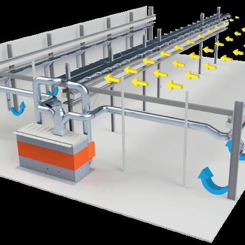 Системы центральной вентиляции цехов и помещений